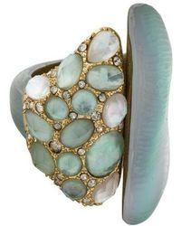 Alexis Bittar - Crystal & Lucite Ring Gold - Lyst