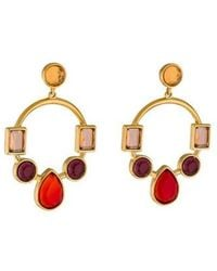 Colette Malouf - Marquess Crown Jewel Hoop Earrings Multicolor - Lyst