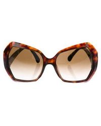 Chanel - Square Spring Sunglasses Silver - Lyst
