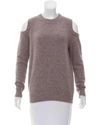 Rebecca Minkoff - Cold-shoulder Wool Sweater Multicolor - Lyst