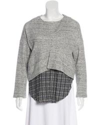 10 Crosby Derek Lam - Layered Knit Tunic Grey - Lyst