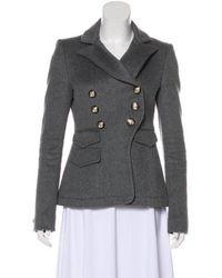 Altuzarra - Wool Button-up Blazer Grey - Lyst