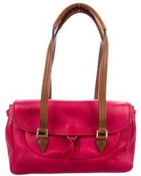 Jil Sander - Vitello Leather Shoulder Bag Magenta - Lyst