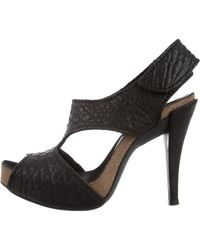 bf0d5898a94 Lyst - Pedro Garcia Whisper Low-heel Leather Sandal in Black