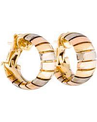 Cartier - 18k Gas Pipe Hoop Earrings Yellow - Lyst