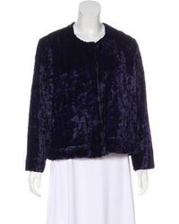 Rodebjer - Textured Button-up Jacket Navy - Lyst