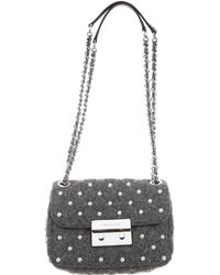MICHAEL Michael Kors - Michael Kors Embellished Flap Bag Grey - Lyst