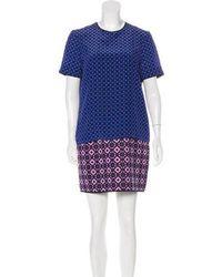 Victoria, Victoria Beckham - Victoria Beckham Silk Patterned Dress - Lyst