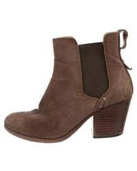 Rag & Bone - Suede Ankle Boots Olive - Lyst