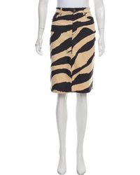 Moschino Jeans - Patterned Pencil Skirt - Lyst