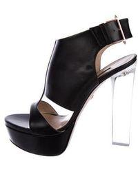 Ruthie Davis - Leather Platform Sandals - Lyst