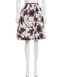 Jason Wu - Pleated Floral Skirt - Lyst