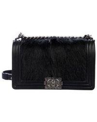 e94bd2912779 Chanel - Goat Hair Medium Celtic Boy Bag Black - Lyst