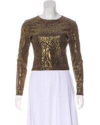 Christian Lacroix - Patterned Top Gold - Lyst