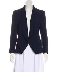 Dion Lee - Structured Silk-paneled Jacket Navy - Lyst