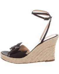 Boutique Moschino - Bow Espadrille Wedges - Lyst