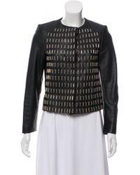 Golden Goose Deluxe Brand - Embellished Leather Jacket Black - Lyst