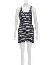 Balmain - Coated Open Knit Dress - Lyst