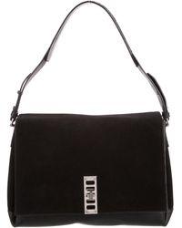 Proenza Schouler - Suede & Leather Elliot Shoulder Bag Black - Lyst