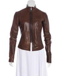 VEDA - Leather Zip-up Jacket - Lyst