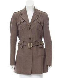 Karen Millen - Belted Notch-lapel Jacket - Lyst