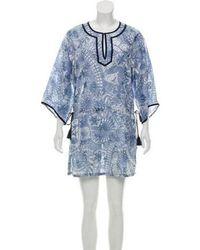 Tory Burch - Printed Mini Dress Multicolor - Lyst