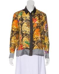 Dries Van Noten - Printed Silk Button-up Top Pattern Prints - Lyst