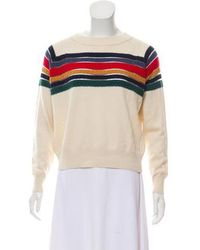 Band of Outsiders - Long Sleeve Knit Sweater Wool - Lyst