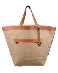 Loro Piana - Leather-trimmed Fleming Tote Tan - Lyst