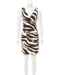 MICHAEL Michael Kors - Michael Kors Sleeveless Zebra Print Dress - Lyst