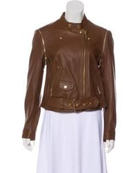 MICHAEL Michael Kors - Michael Kors Leather Moto Jacket - Lyst