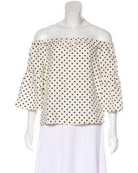 Piamita - Silk Polka Dot Top - Lyst