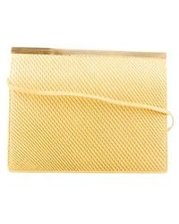 Judith Leiber - Textured Leather Shoulder Bag Yellow - Lyst