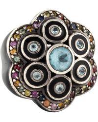 M.c.l  Matthew Campbell Laurenza - Topaz & Sapphire Flower Cocktail Ring Silver - Lyst