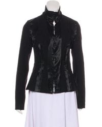 Rochas - Long Sleeve Mock Neck Jacket - Lyst