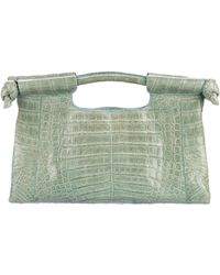 Nancy Gonzalez - Crocodile Handle Bag Gold - Lyst