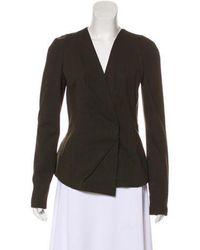 Donna Karan - Structured Long Sleeve Jacket - Lyst