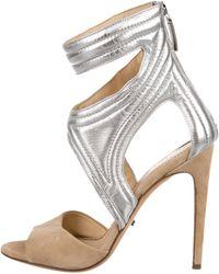 Jerome C. Rousseau - Cutout Sandals Silver - Lyst