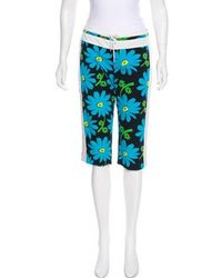 Anna Sui - Floral Print Knee-length Shorts - Lyst