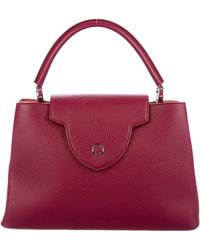 Lyst - Louis Vuitton Taurillon Capucines Mm Violet in Metallic 64fcf9572c08e