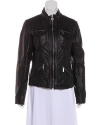 MICHAEL Michael Kors - Michael Kors Leather Casual Jacket - Lyst