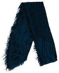 Vivienne Westwood - Patterned Fringe-trimmed Scarf - Lyst