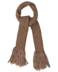 Michael Kors - Cable Knit Fringe Scarf - Lyst