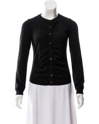 Boutique Moschino - Virgin Ruched Cardigan - Lyst