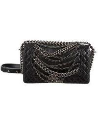 ac84ba637f17 Lyst - Chanel Enchained Xl Boy Bag Black in Metallic