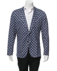 Carven - Geometric Print Two-button Sport Coat - Lyst