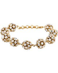 Kate Spade - Crystal Ball Station Bracelet Gold - Lyst
