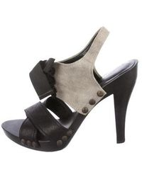 63d31ba76289 Lyst - Stella Mccartney Vegan Embossed Leather Ankle-strap Sandals ...