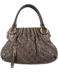 Marc Jacobs - Quilted Cecilia Satchel Olive - Lyst