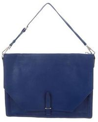 3.1 Phillip Lim - Leather Flap Bag Blue - Lyst